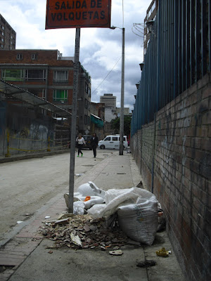 Human faeces on the street; a common sight in city-centre Bogotá ...