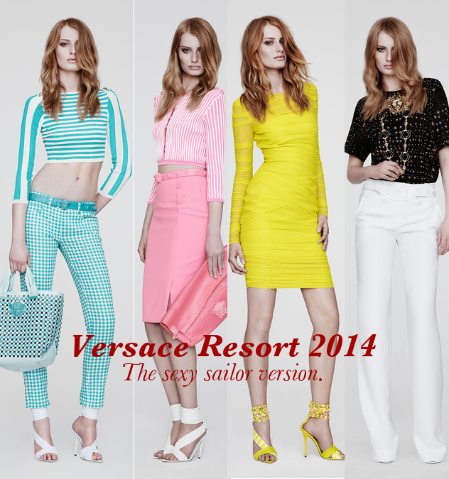 Versace Resort 2014. Sexy Sailors