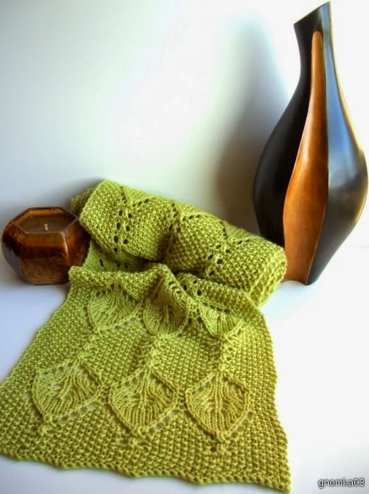 Scarf lace knitting pattern