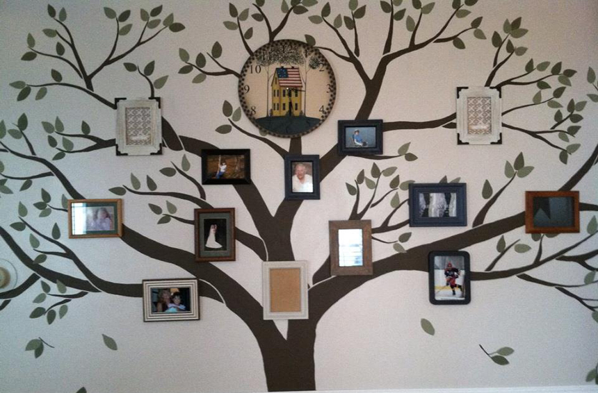 gallery for gt family tree wall mural
