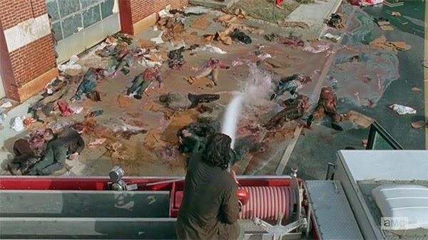 El mejor metodo para acabar zombis se ve en The Walking Dead 5x05