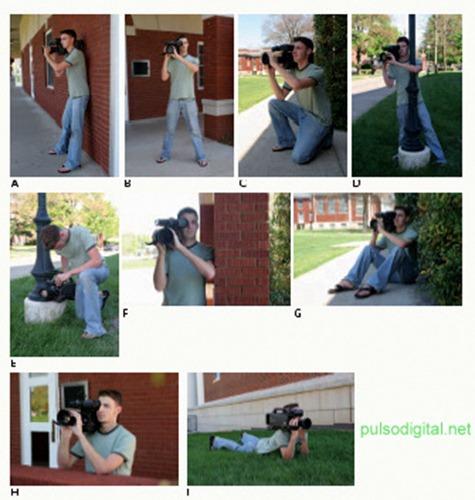Cómo apoyar la cámara de video para estabilizar la imagen