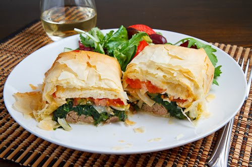 Lamb Exohiko (Lamb Stuffed Phyllo Parcels)