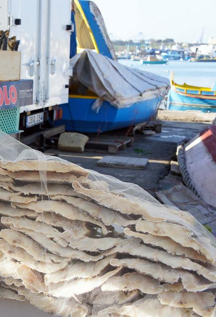 marsaxlokk market salted fish