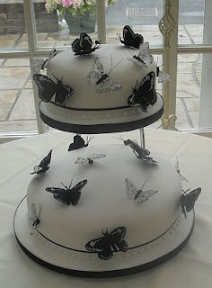 Tortas de Boda con Mariposas, parte 1