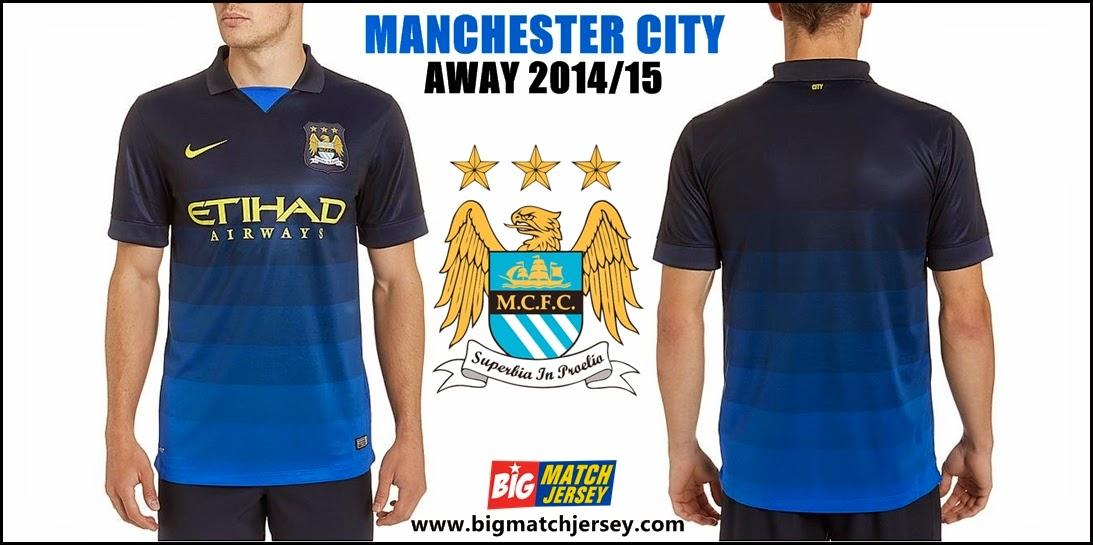Agen Jersey Nike Manchester City FC Away Jersey 14-15