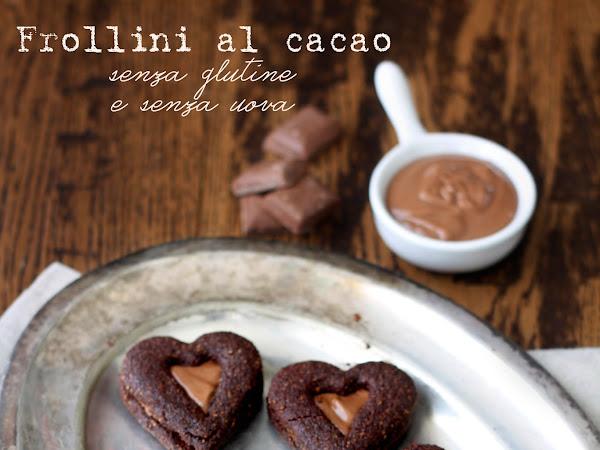 Frollini al cacao, senza glutine e senza uova