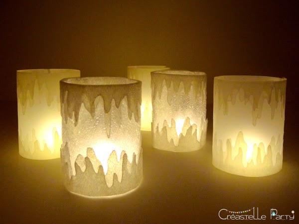 DIY photophore glaçon - Ice lantern