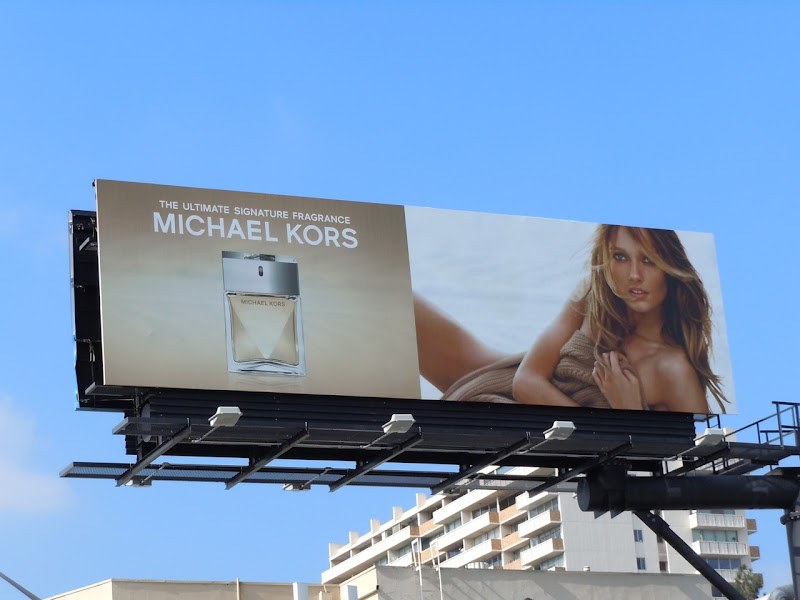 Michael Kors fragrance billboard