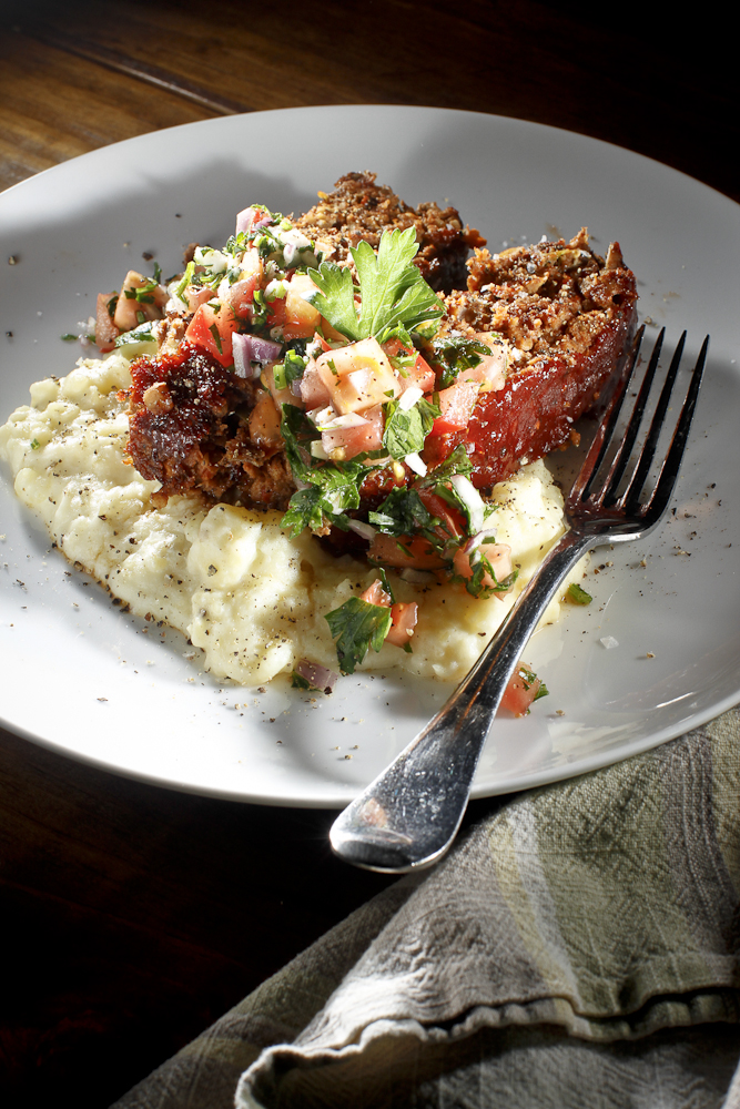 Meatloaf With Roasted Garlic Mashed Potatoes - From My Family To Yours ...