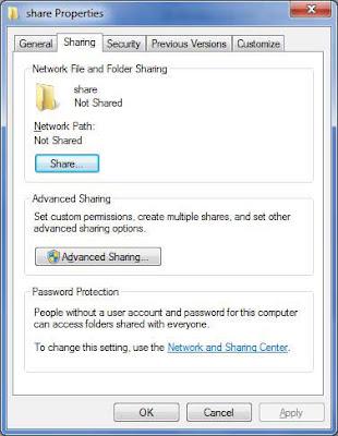 Cara Sharing Folder Di Windows 7