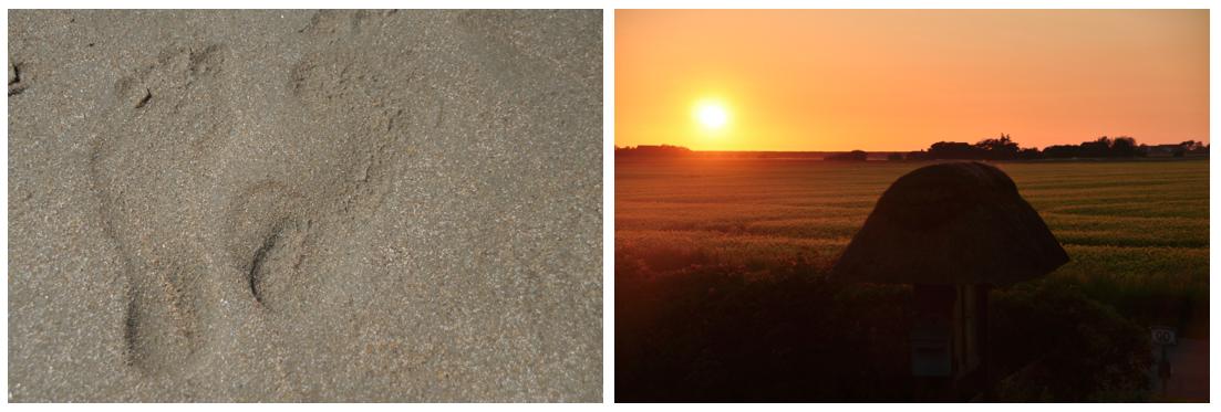 footprint and sundown at the nordsea