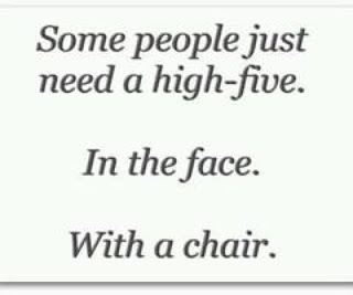 some people need high five face chair