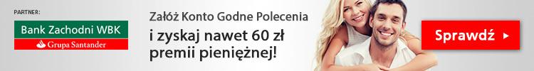 Konto Godne Polecenia z premią 60 zł w BZ WBK