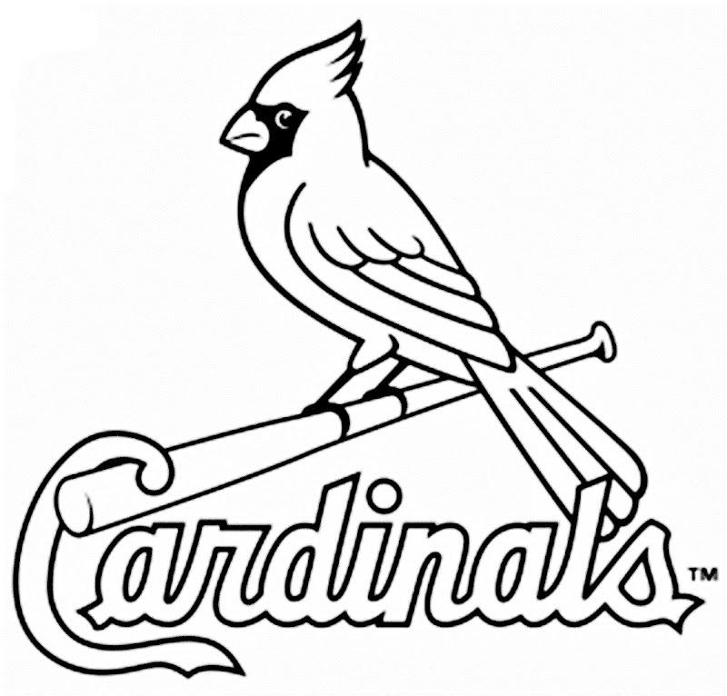 Pinto Dibujos: Logo de los cardenales de San Luis para colorear