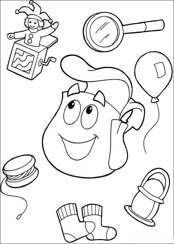 Kids Under 7 Dora the Explorer Coloring Pages