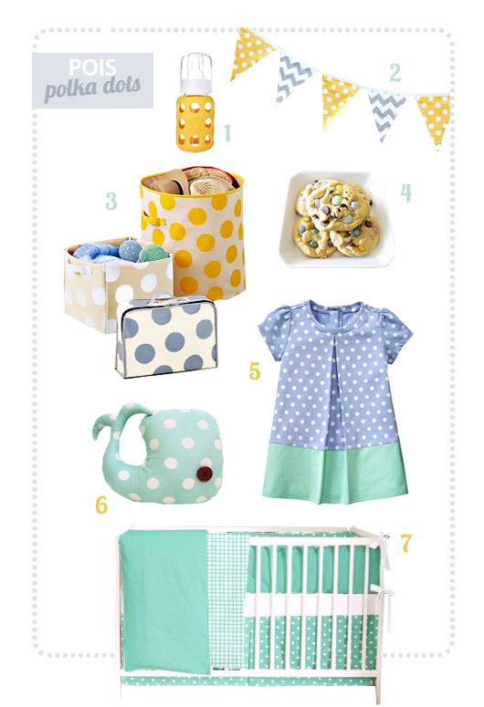Idee per decorare le camerette e vestire i vostri bambini tutti a pois, puntini o polka dots