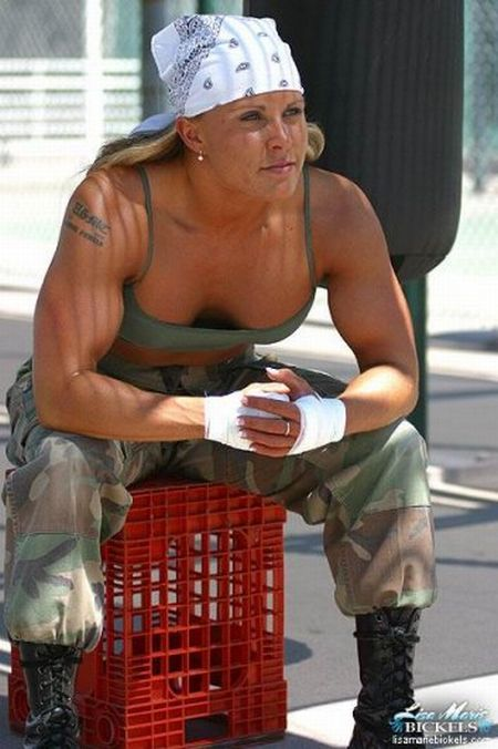 hot blonde girl in the army