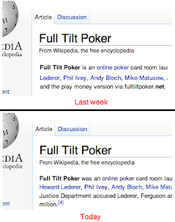 Full Tilt Poker, Yesterday & Today