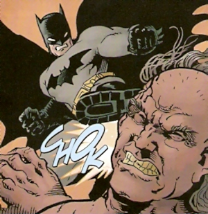 Batman hablando con las botas