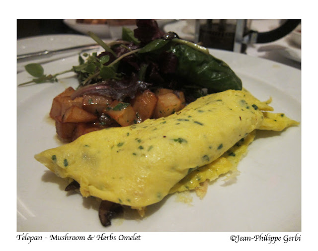 Image of Mushrooms and herbs omelet at Telepan on the UES in NYC, New York