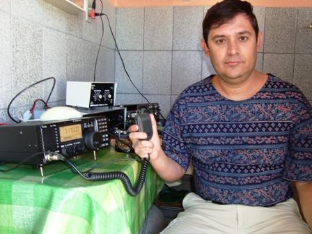 PY1REI Reinaldo operando o seu IC-718