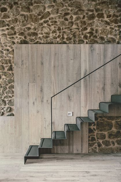 Rustic modern stairs