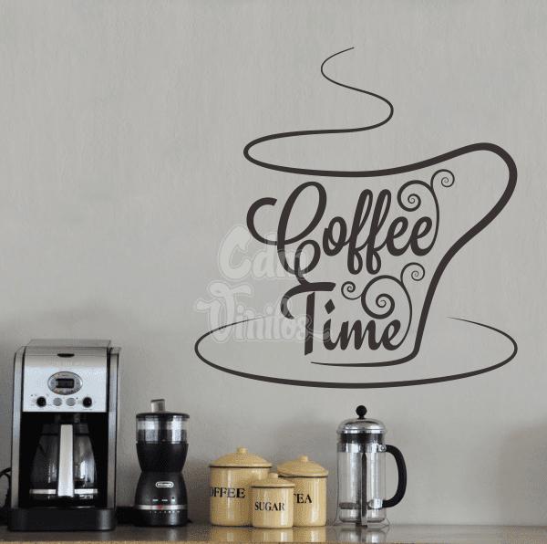 Vinilo decorativo cocina coffe time w02 cdm vinilos - Vinilo decorativo cocina ...
