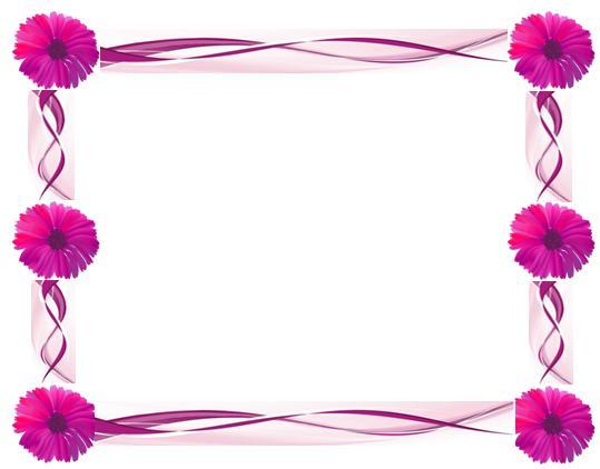 Beautiful Flowers Borders Designs