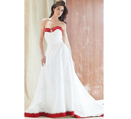 and white wedding dress top red and white wedding dress