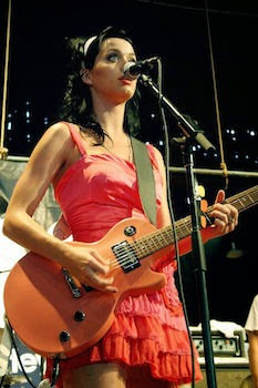 Katy Perry playing guitar image