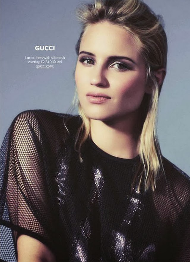 "Dianna Agron &Quot;instyle"" Uk Magazine February 2014"