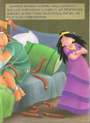 Dalila trai sanção -história ilustrada