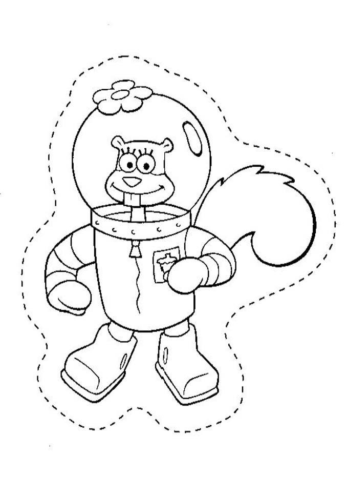 Desenho como desenhar Bob Esponja Na Fenda Do Bikini pintar e colorir
