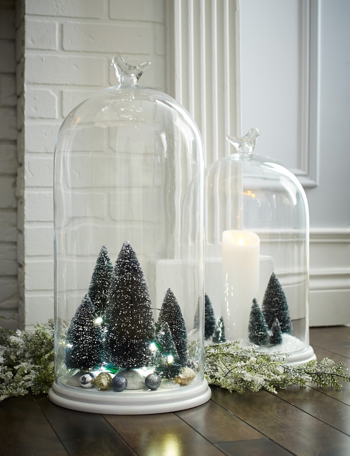 Elliven studio decorating with silver for the holidays - Groayes glas weihnachtlich dekorieren ...