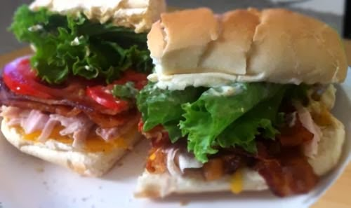 What To Do With Thanksgiving Leftovers? Turkey BLT Sandwich!!!  Click For More Ideas