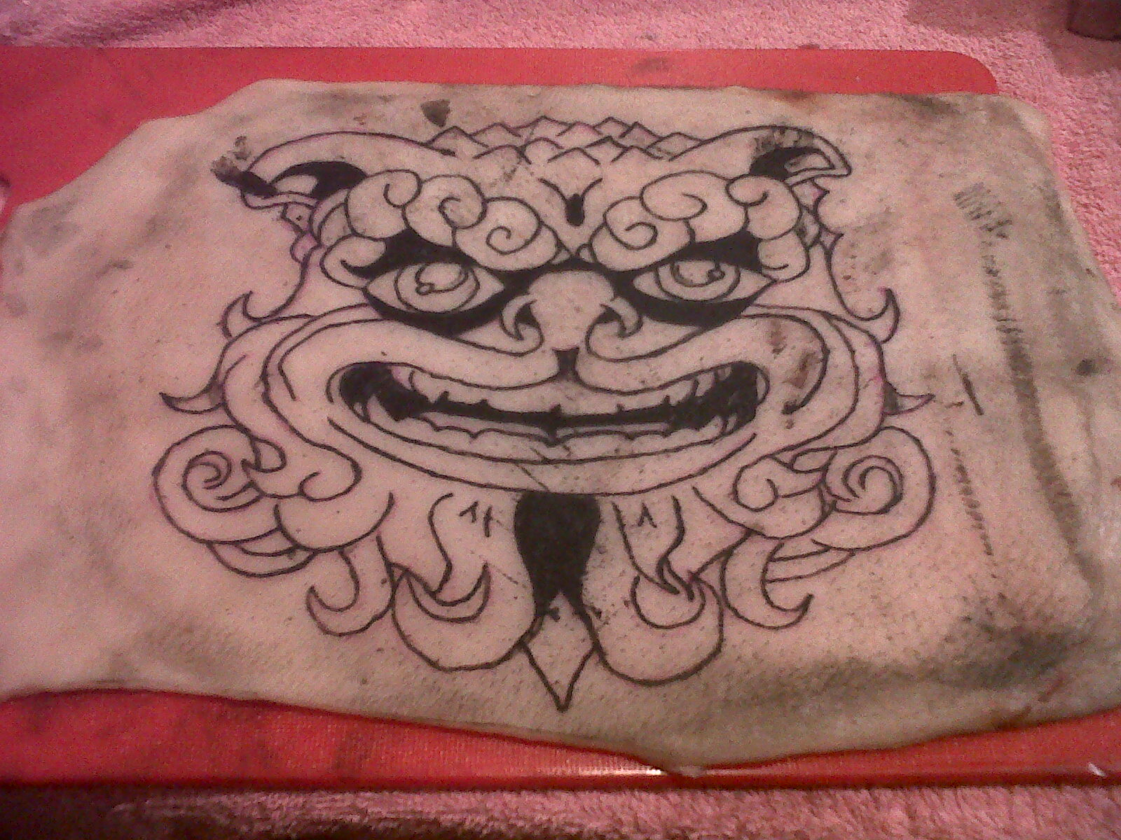 K inky tattoos for Tattoo practice pig skin
