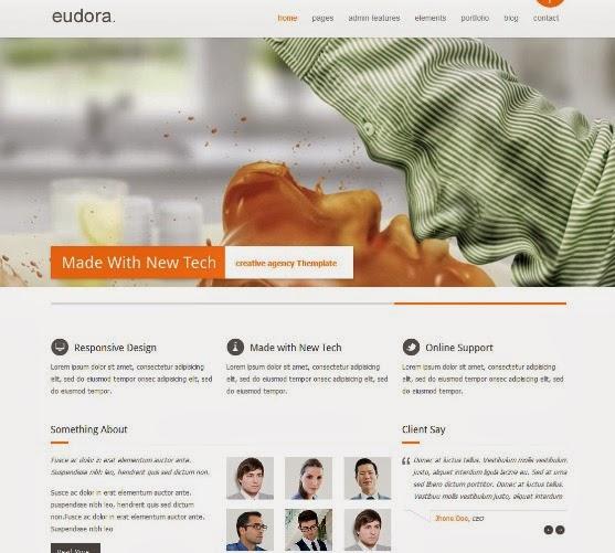 Eudora Responsive WordPress Theme
