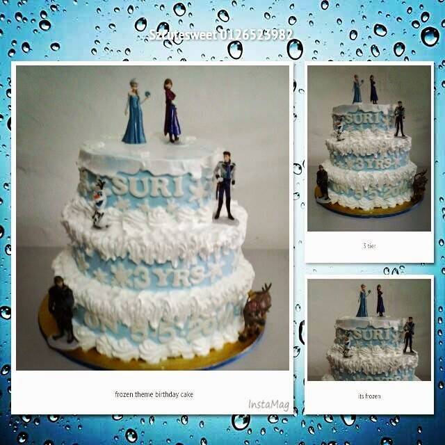frozen birthday cake 3 tier