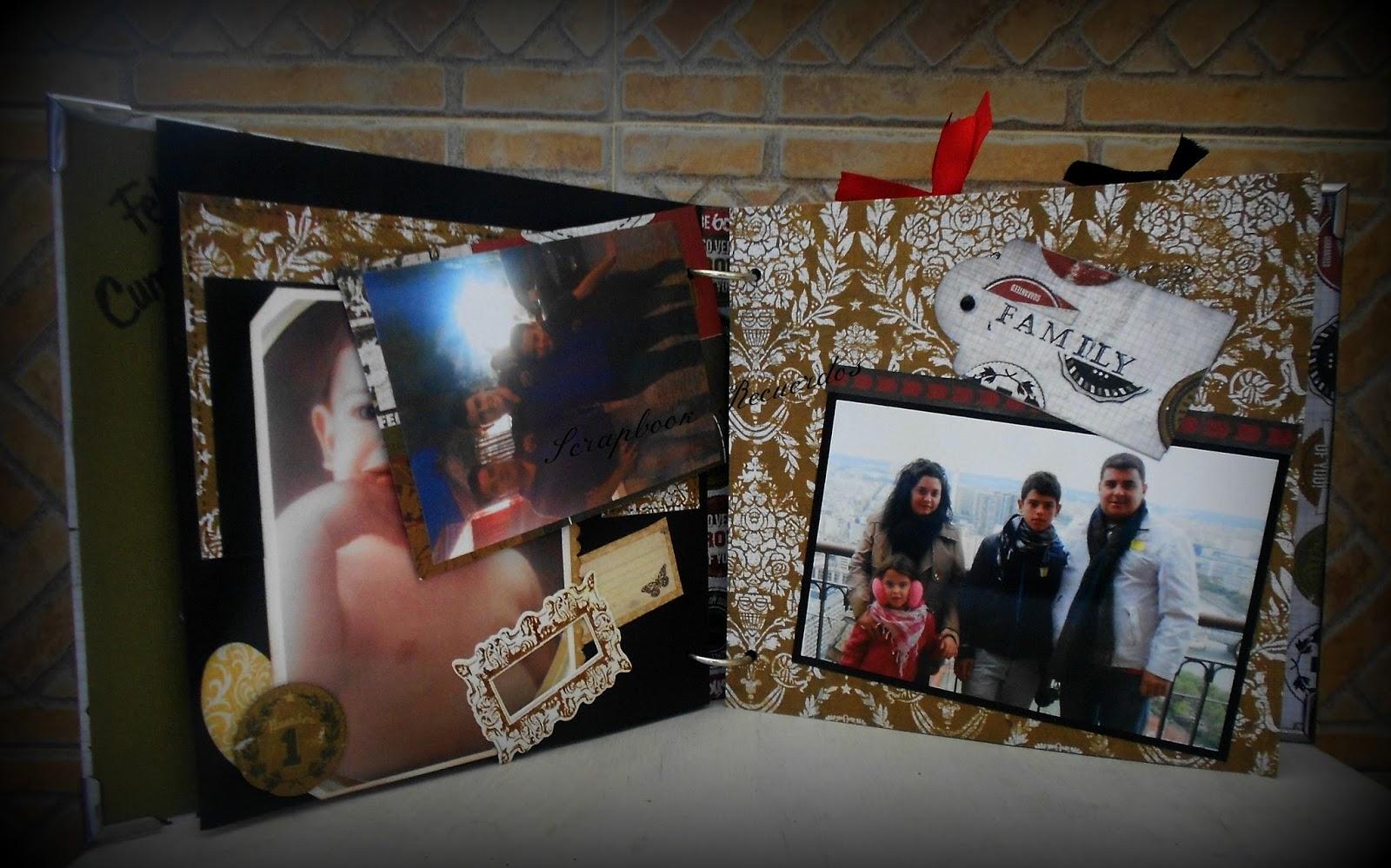 Scrapbook recuerdos album para un chico joven scrapbook - Regalos chico joven ...