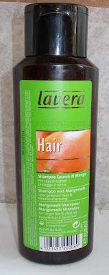 Lavera, szampon mleczko mango do włosów farbowanych. Ochrona koloru