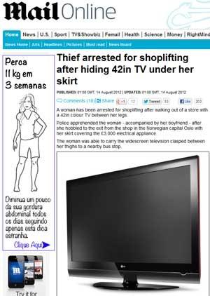 Mulher tentando roubar