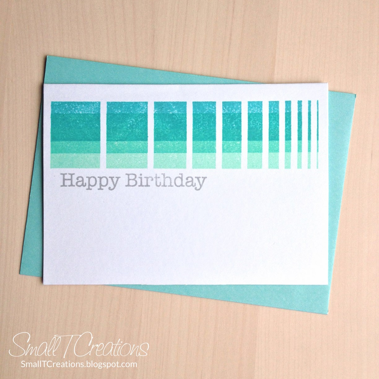 Graphic Ombre Birthday Card | Small T Creations
