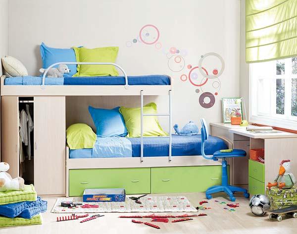 Decoracion actual de moda muebles modulares para el dormitorio infantil - Dormitorios infantiles decoracion ...