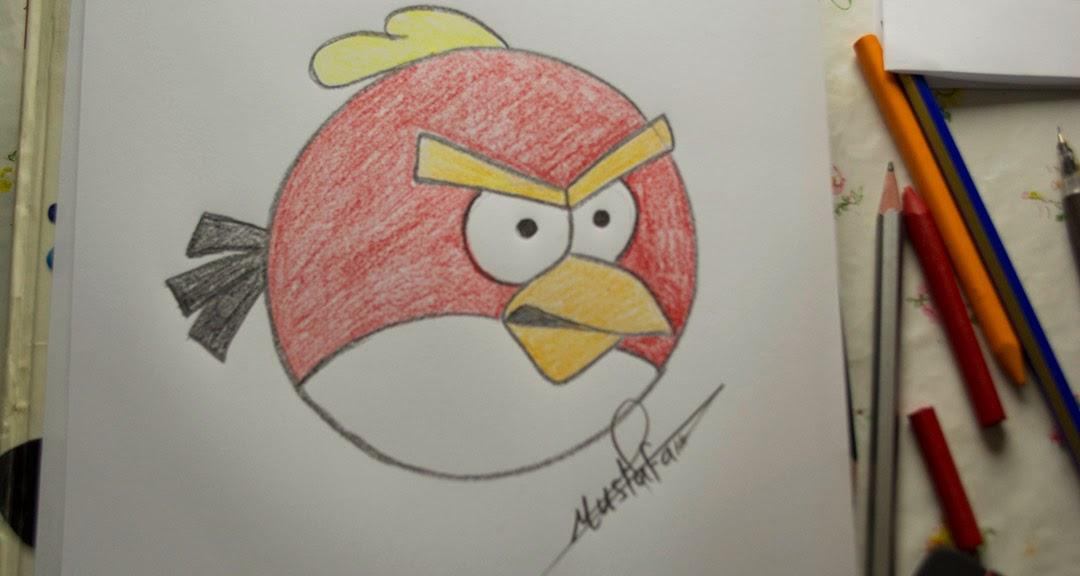 تعليم الرسم كيفية رسم الطيور الغاضبة