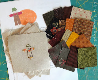Autumn Stitching Club, block 1, scarecrow