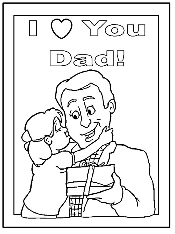 Love You Dad Coloring Page For Father's Day title=