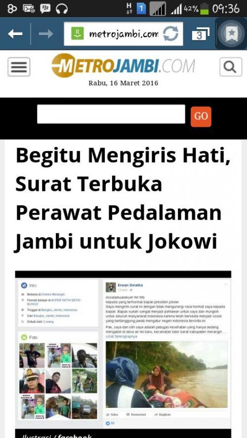 Surat Terbuka Perawat Pedalaman Untuk Jokowi - Metro Jambi