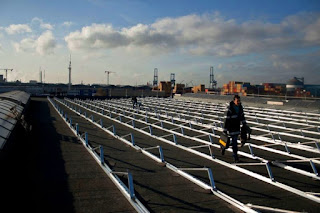 PV Panels Mounting Structure on Warehouse Roof