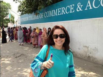 Juggun Kazim - Pakistan Celebrities voted for Pakistan